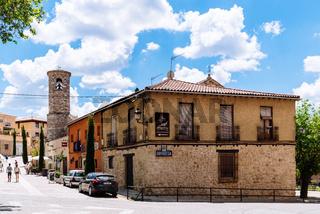 View of the town of Brihuega in Guadalajara