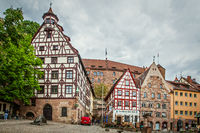Houses in the old town in Nuremberg