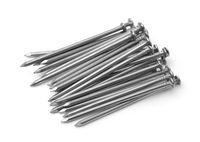 Group of common steel nails