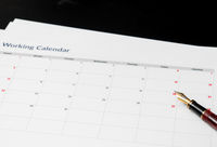 Calendar illustrating a four day working week with Fridays being a vacation day
