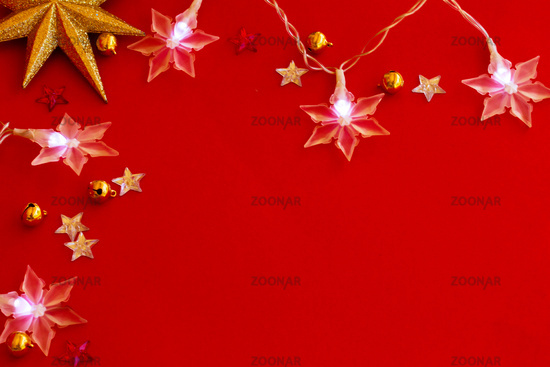 red new year background