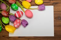 Happy Easter decoration template