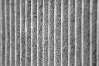 Closeup of a dirty used air filter