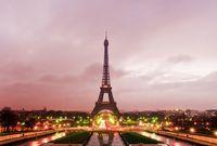 Eiffel Tower on sunrise, Paris, France