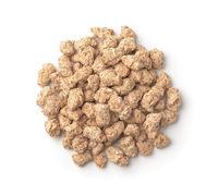 Top view of wheat bran pellets