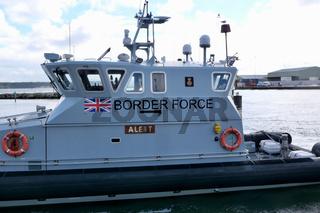 10 October 2021 - Poole, UK: Border force coastal protection vessel