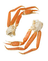 Snow crab  clusters  on a white  background.