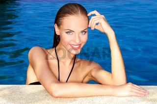 Sexy in swimming pool