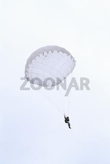 Skydiver descends