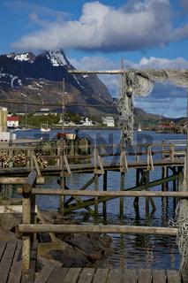 Wooden pier in Reine