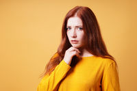 worried concerned young woman thinking about anxiety for the future