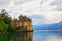 Genfersee und Schloss Chillon (Lac Léman et Château de Chillon), Schweizer