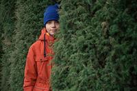Autumn portrait of boy teen