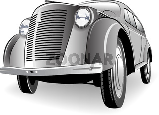 Image of old car in gray tone