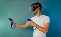 Man using a gaming gadget for virtual reality