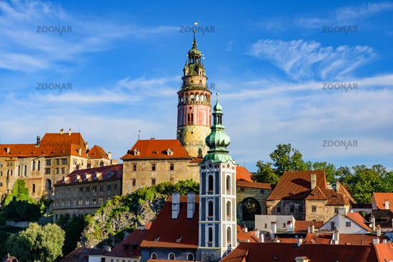 Český Krumlov Castle and Tower in the Czech Republic