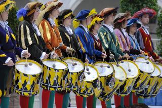 Trommler in Band