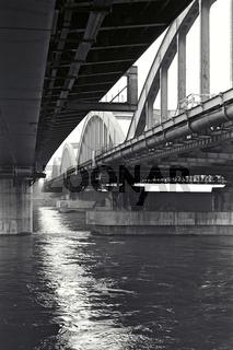 Alte und neue Floridsdorfer Brücke