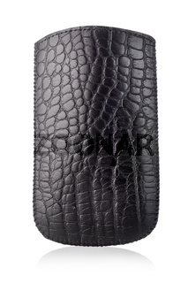 Black leather case