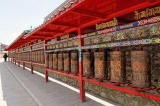 Buddhistische Gebetsmuehlen