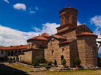 View to Saint Naum Monastery, Ohrid, North Macedonia