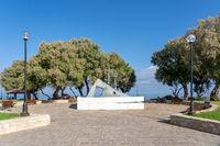 Hand monument at Talos Square in Chania, Crete