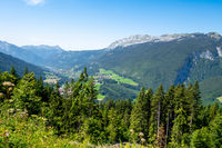 Mountain landscape in The Grand-Bornand, France