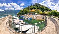 Punta Spartivento viewpoint in town of Belaggio on Como Lake