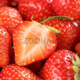 Frische Bio Erdbeere