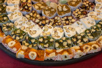 Traditional style turkish delight sweets