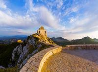 Lovcen Mountains National park on sunset - Montenegro
