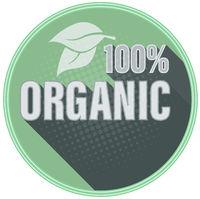 circular 100 percent ORGANIC label