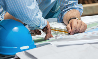 Discussing construction plans