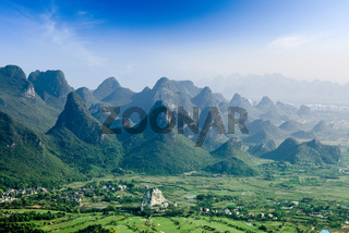 beautiful karst mountain landscape in guilin
