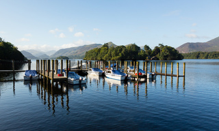 Boats on Derwent Water in Lake District