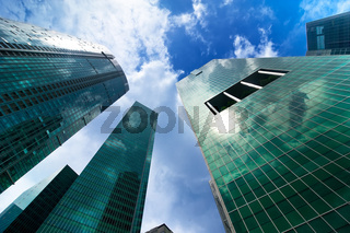 Urban landscape. Skyline of modern skyscrapers
