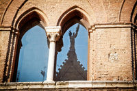 Medieval window in Siena