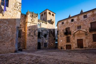 Cathedral of Santa Maria de la Asuncion in Caceres, Extremadura, Spain