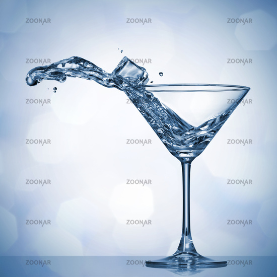 Martini splash in glass