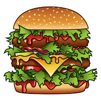 Burger Illustration