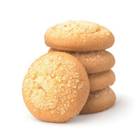 Stack of cream cheese cookies