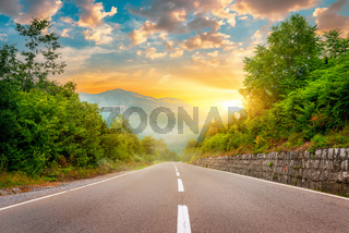 The road to Podgorica