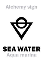 Alchemy: SEA WATER (Aqua marina)
