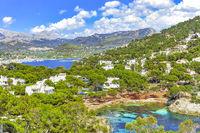 Cala Marmassen Auf dem Weg zum Mirador de Sa Mola in Port d'Andratx an der Südwestküste Mallorcas