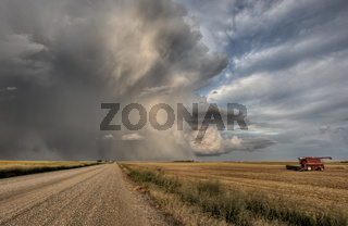 Prairie Road Storm Clouds