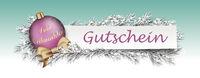 Gutschein Cyan Banner Pink Bauble Twigs Christmas