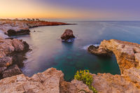 Lovers bridge at sunrise in Ayia Napa Cyprus