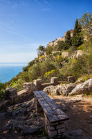 Nietzsche Path Viewpoint to Eze Village in France