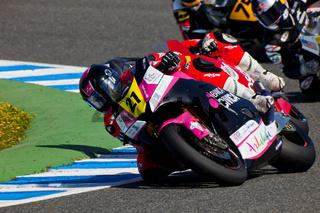 Ivan Moreno pilot of Moto2  of the CEV Championship