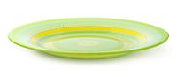 Green striped plate